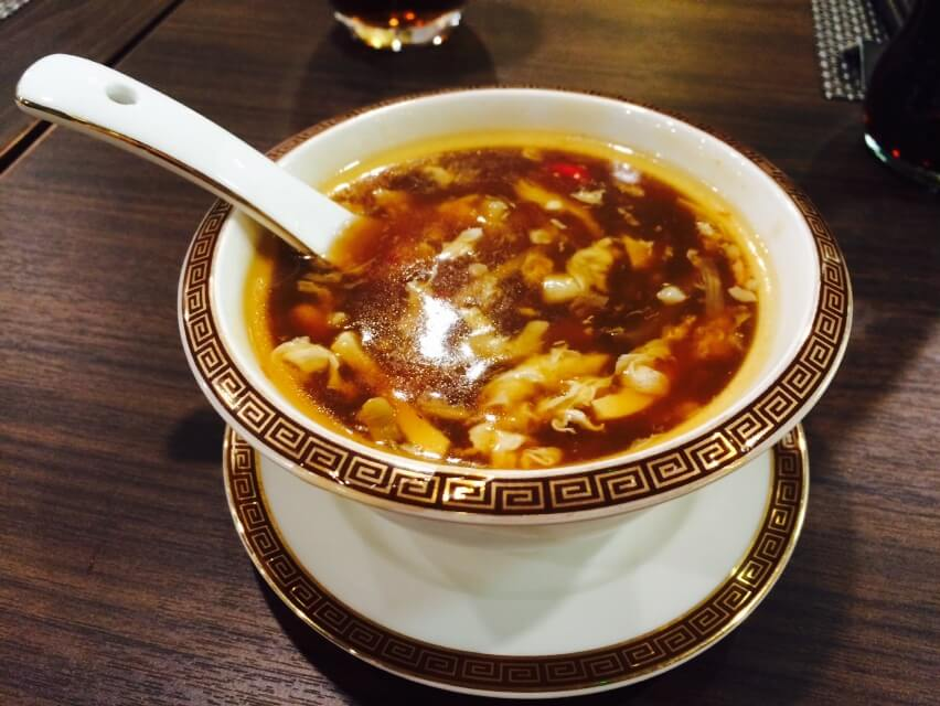 Hot & Sour Soup - Side view