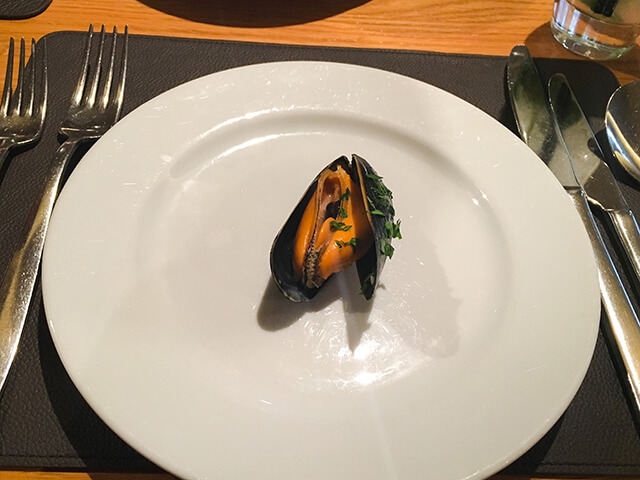 Mussel on plate